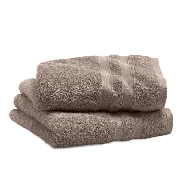 Serviette City Taupe 50 x 100 cm, lot de 2. Ces serviettes de 450 g ...