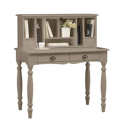 bonheur du jour taupe charme achat vente petit meuble. Black Bedroom Furniture Sets. Home Design Ideas