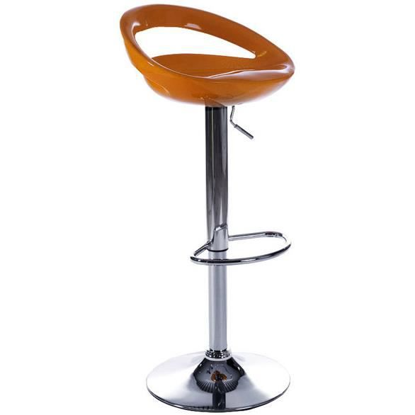 tabouret de bar bubble orange en abs 45x40x61 82cm. Black Bedroom Furniture Sets. Home Design Ideas