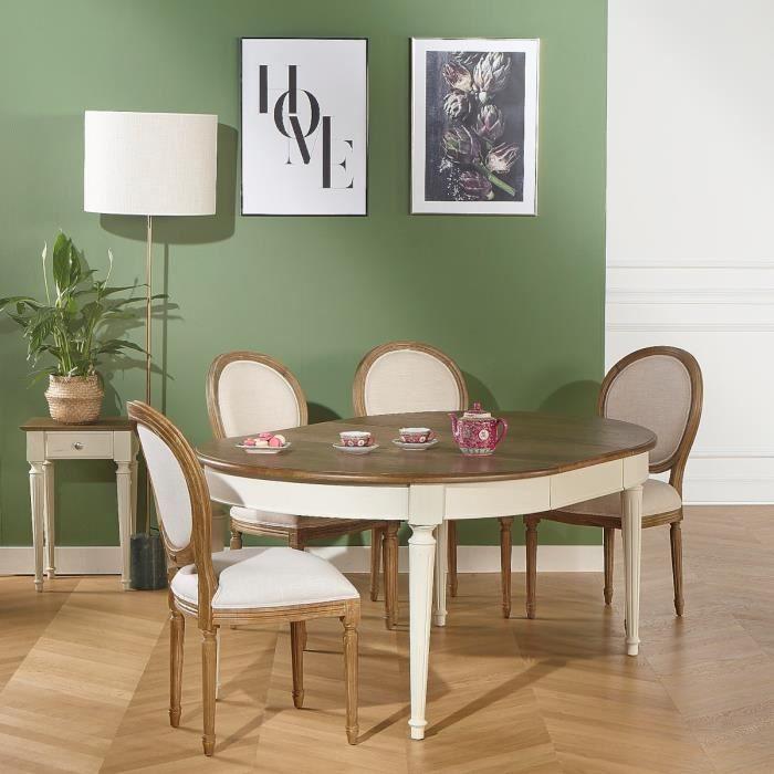 Table salle à manger, Chêne, FLORENCE 2m60 Patine Shabby ...