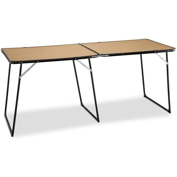 TABLE DE CAMPING EREDU Table Double Pliante camping 808/Ds - 160 x