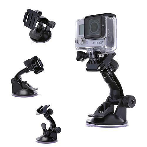 ventouse support fixation pour cam ra de sport gopro hero 4 3 2 1 achat vente support d. Black Bedroom Furniture Sets. Home Design Ideas