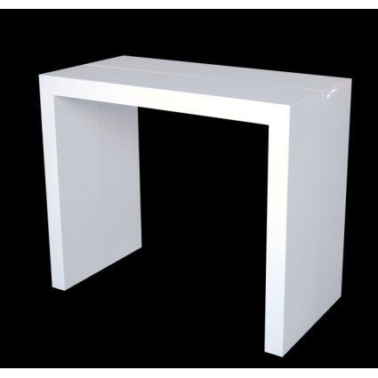 table console extensible finition mate blanche achat. Black Bedroom Furniture Sets. Home Design Ideas