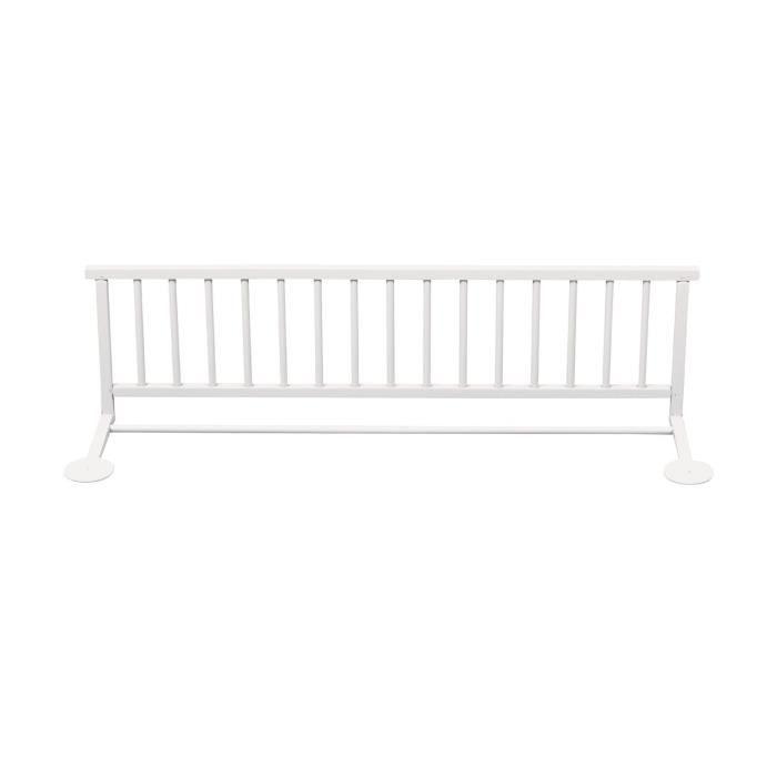 BARRIÈRE DE LIT BÉBÉ COMBELLE Barrière de lit enfant - Blanc laqué