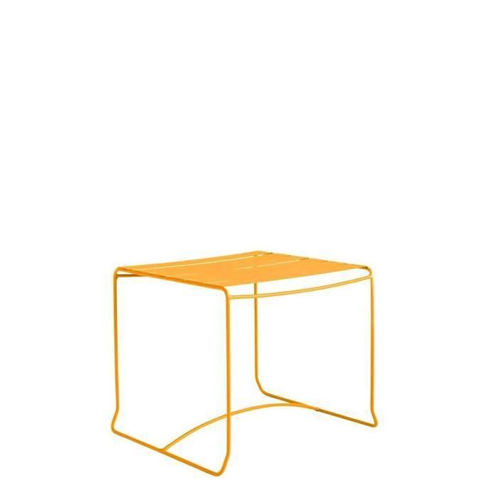 Table basse de jardin métal carrée 50x50 Pasadena Couleur ...