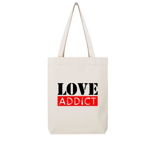 beaucoup de styles styles classiques gros remise Tote bag en toile recycle natural love addict - Achat ...