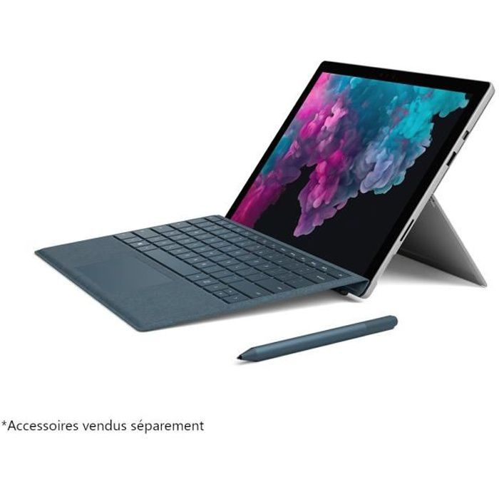 ORDINATEUR 2 EN 1 Microsoft Surface Pro 6 Core i7 RAM 16 Go SSD 512