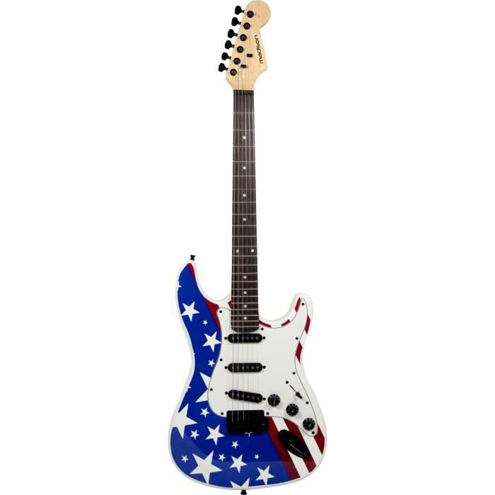 guitare electrique type stratocaster usa pas cher achat. Black Bedroom Furniture Sets. Home Design Ideas