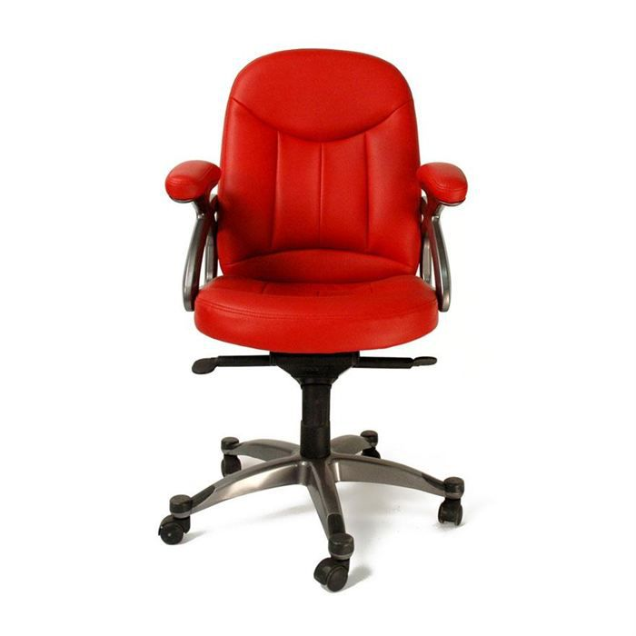 fauteuil chaise de bureau rouge design enzo achat. Black Bedroom Furniture Sets. Home Design Ideas