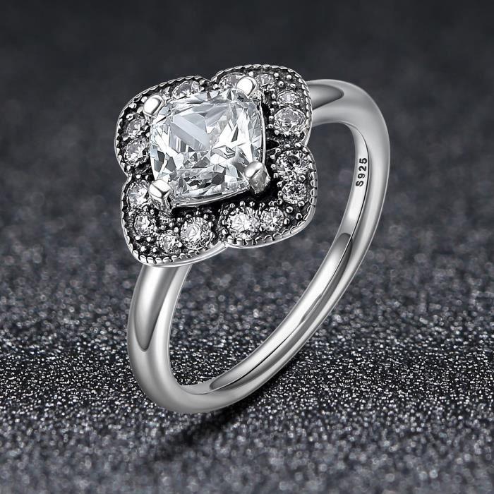 Pur argent sterling 925 Bague Magnifique Feuille élégant mariée Bague Bijoux