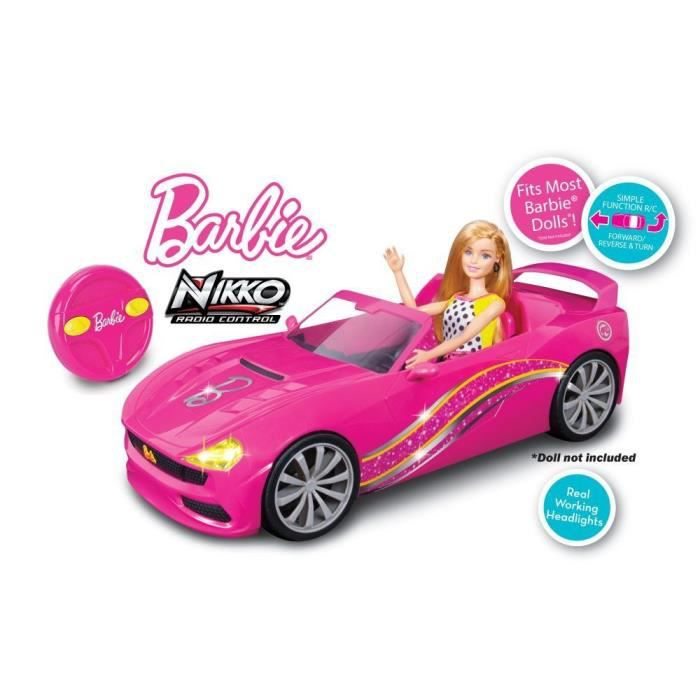barbie cabriolet radio commandee achat vente voiture camion cdiscount. Black Bedroom Furniture Sets. Home Design Ideas