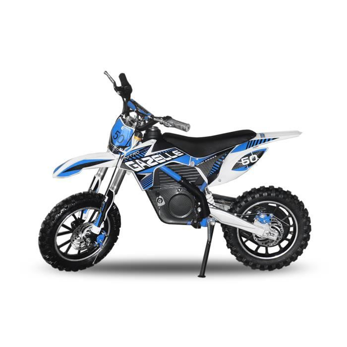 dirt bike mini moto enfant 500w 24v eco gazelle bleu. Black Bedroom Furniture Sets. Home Design Ideas