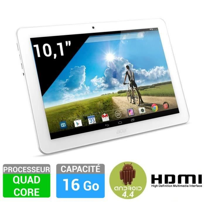 acer tablette iconia tab 10 blanche a3 a20 k79q prix pas cher cdiscount. Black Bedroom Furniture Sets. Home Design Ideas