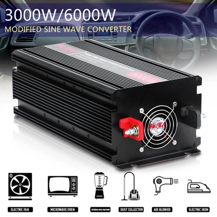 Onduleur 3000 6000W convertisseur de tension 12V 230V onde sinuso/ïdale modifi/ée