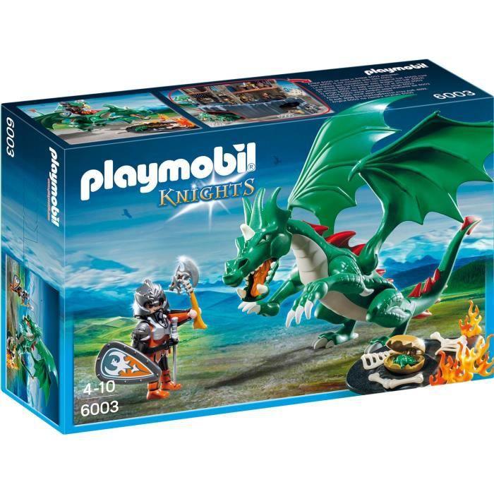 Photo de playmobil-6003-chevalier-grand-dragon-vert