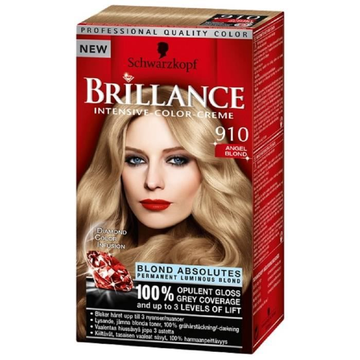 coloration coloration schwarzkopf brillance 910 blond absolu - Coloration Shwarskoff