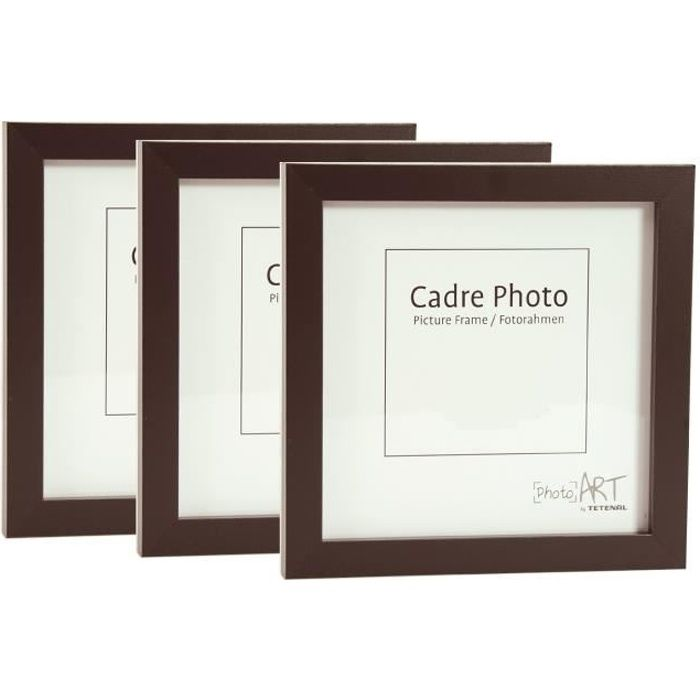 lot de 3 cadres photo 30x30 noir achat vente cadre photo cdiscount. Black Bedroom Furniture Sets. Home Design Ideas