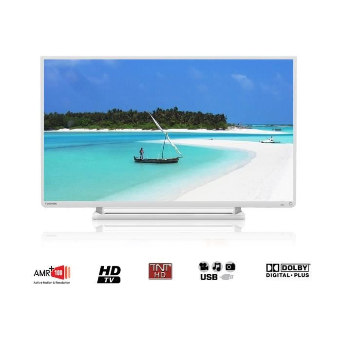 toshiba 32w2434dg tv hdtv 80 cm blanc t l viseur led prix pas cher cdiscount. Black Bedroom Furniture Sets. Home Design Ideas