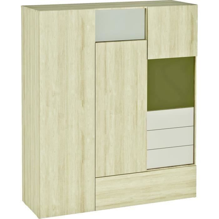 armoire de chambre beige achat vente armoire de. Black Bedroom Furniture Sets. Home Design Ideas