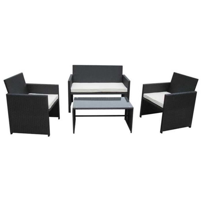 Ensemble table et 2 fauteuils de jardin LOUNGE 1 SOFA 2 PLACES ...