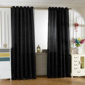 RIDEAU 100x250 cm Paire de rideaux occultants Noir