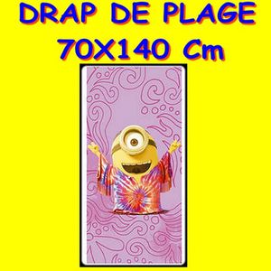 serviette de plage les minions achat vente serviette de plage les minions pas cher cdiscount. Black Bedroom Furniture Sets. Home Design Ideas