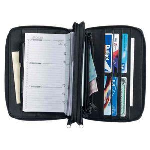 AGENDA - ORGANISEUR Agenda-portefeuille DUO modèle 16500-1, A6, noir,
