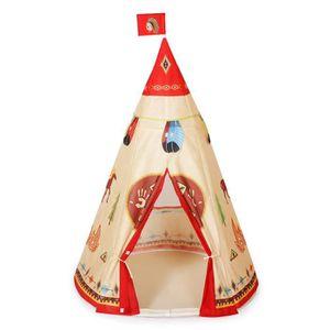 TENTE TUNNEL D'ACTIVITÉ Tente Jeu d'Enfant Indiens Portable