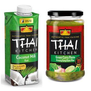 LIANT POUR SAUCE THAI KITCHEN Lot d'1 Lait de coco 500 ml (brique r