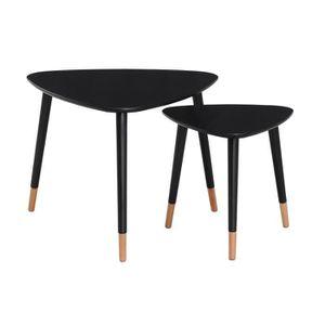 TABLE GIGOGNE FINLANDEK 2 tables basses gigognes triangulaires L