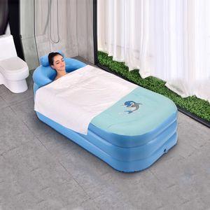 Baignoires sur Pieds Pliante en Plastique Gonflable Famille Salle De Bain Adulte Douche De Plage Ext/érieure Portative Piscine pour Enfants Double