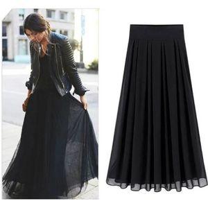 JUPE Mode Grande Taille Noir Jupe Longue Femme Européen