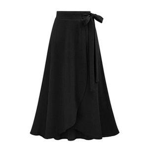 JUPE Jupe Femme en Tricot Mi-Longue Grande Taille Taill