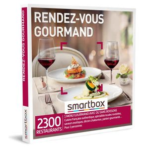 COFFRET GASTROMONIE SMARTBOX - Coffret Cadeau - RENDEZ-VOUS GOURMAND -