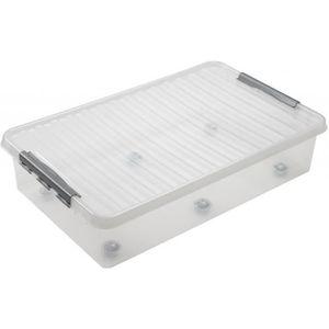 BOITE DE RANGEMENT Boite plastique sous le lit 60L