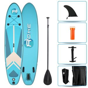 STAND UP PADDLE ROHE Pack Paddle Gonflable Indiana Blue - 320x76x1