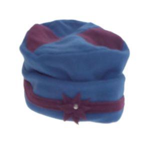 BONNET - CAGOULE Bonnet - Tambourin - Femme - Bicolore bleu/prune -