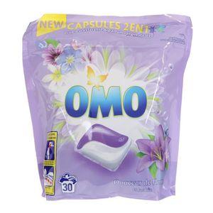 LESSIVE OMO Lessive Capsules 2en1 Fleurs et Jasmin