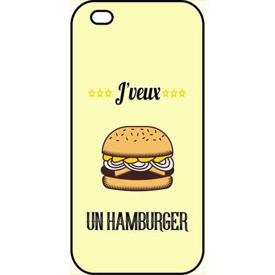coque smartphone j veux un hamburger compatibl