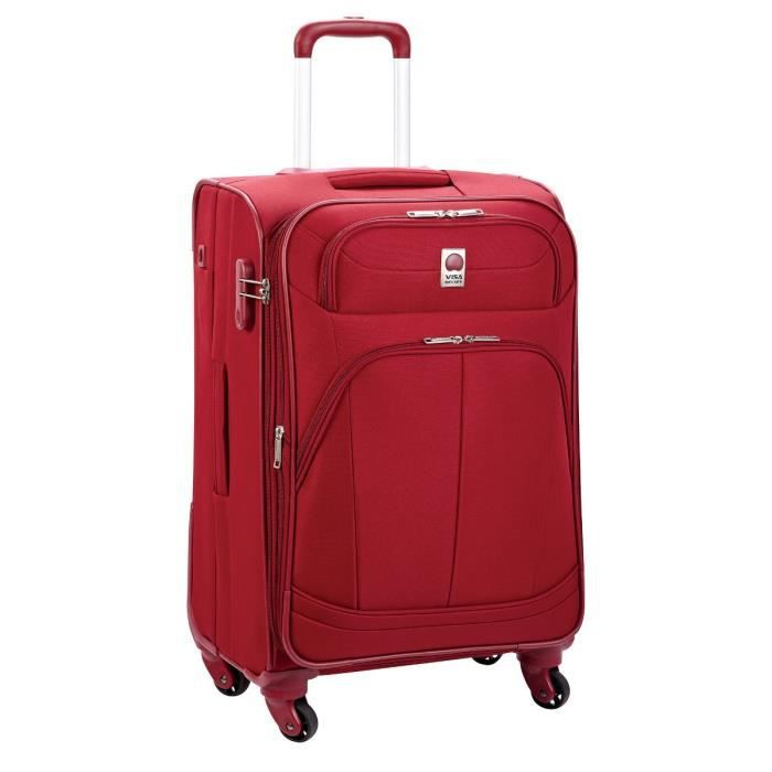 visa delsey valise trolley 75 cm pin up 4 rouge achat vente valise bagage 3219110283013. Black Bedroom Furniture Sets. Home Design Ideas