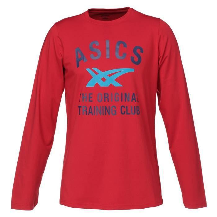 ASICS T-shirt Large logo Homme - Rouge