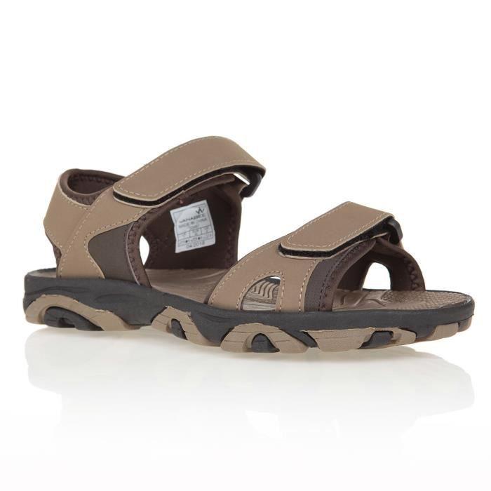 Hommes dunlop textile tongs sandales taille uk 6-12 noir marron gris kaki