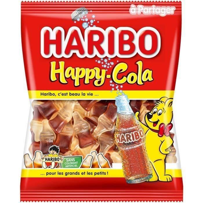 HARIBO Bonbons fantaisies Happy-Cola, sans colorant - 300 g