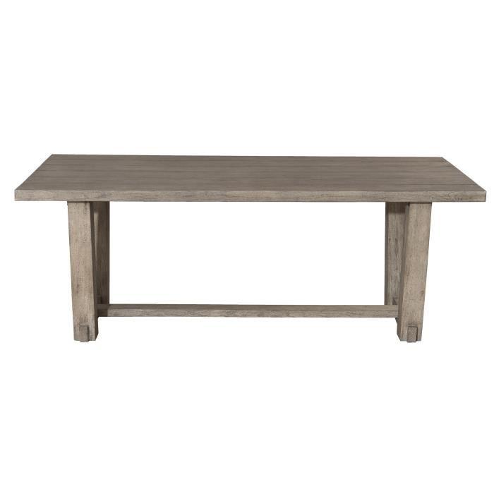 Table à manger rectangulaire en teck - 200 x 90 x 75 cm JARDITECK