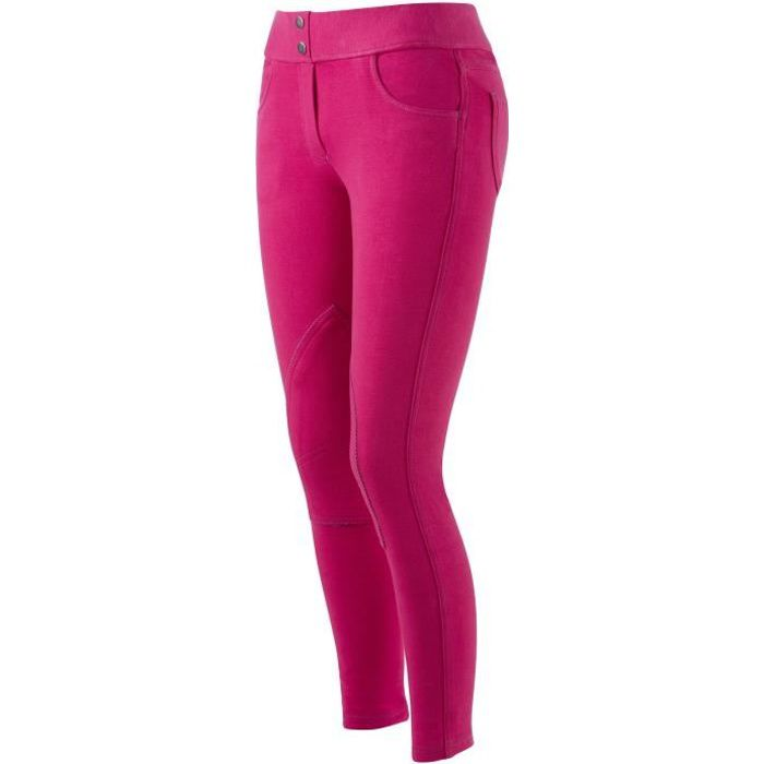 EQUI-THEME Pantalon d'équitation Pull-On - fuchsia - enfant