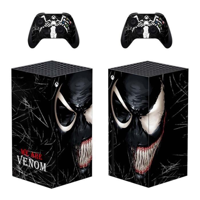 Autocollant Pour Xbox Series X,Sticker Skin de Protection Console et 2 Contrôleurs - Motif We are Venom