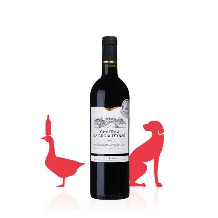 Chateau La Croix Teynac - Vin ROUGE - Gourmand, subtil et fondu - 4,5 L (6 bt)