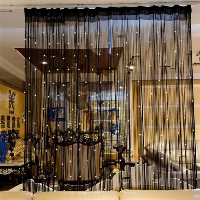 Rideau En Perles Chaîne Porte Fenêtre Panneau De Chambre Glitter Boule De Cristal Gland Chaîne Ligne Porte Fenêtre Rideau Pièce Divi
