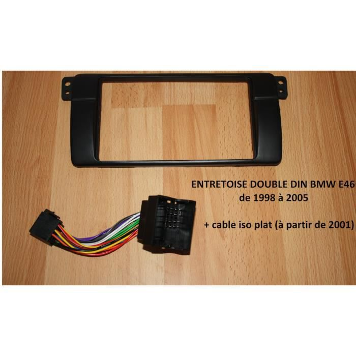 PACK BMW e46 série 3 Support Cadre Autoradio double din 2DIN 7 pouces 7- + CABLE ISO + ADAPTATEUR ANTENNE RADIO