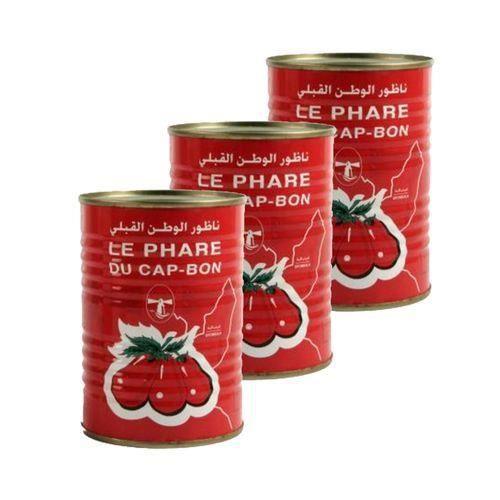 Lot 3X Double concentré de tomate - Le Phare du Cap Bon - conserve 400g (1-2)